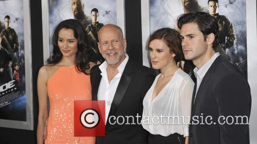 Emma Heming, Bruce Willis, Rumer Willis, Jayson Blair, Grauman's Chinese Theatre