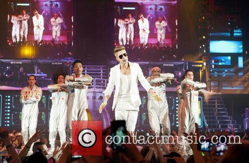 Justin Bieber performs live on stage in the Olympiahall