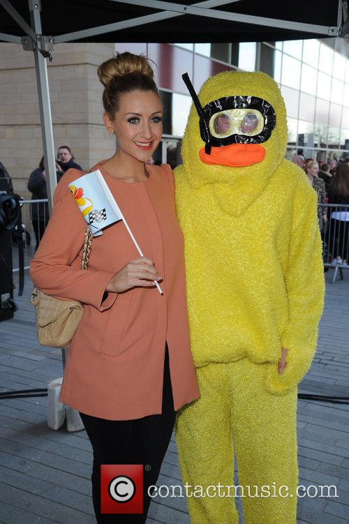 catherine tyldesley manchester duck race at spinningfields 3581542