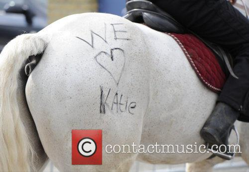 Katie Price and 'we Love Katie' Is Written On A Horse 4