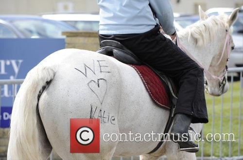 Katie Price and 'we Love Katie' Is Written On A Horse 6