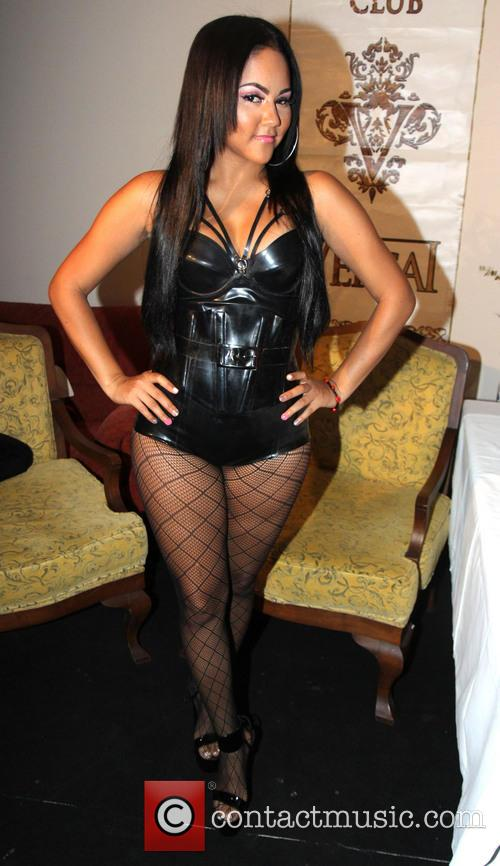 Kat DeLuna backstage ahead of her performance at...
