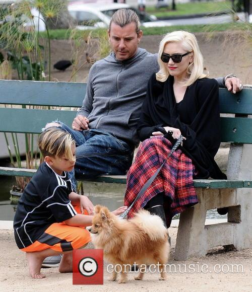 Gwen Stefani, Gavin Rossdale and Kingston Rossdale 9