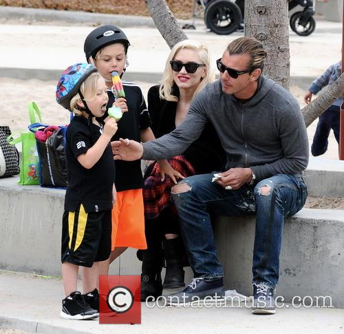 Gwen Stefani, Gavin Rossdale, Kingston Rossdale and Zuma Rossdale 5