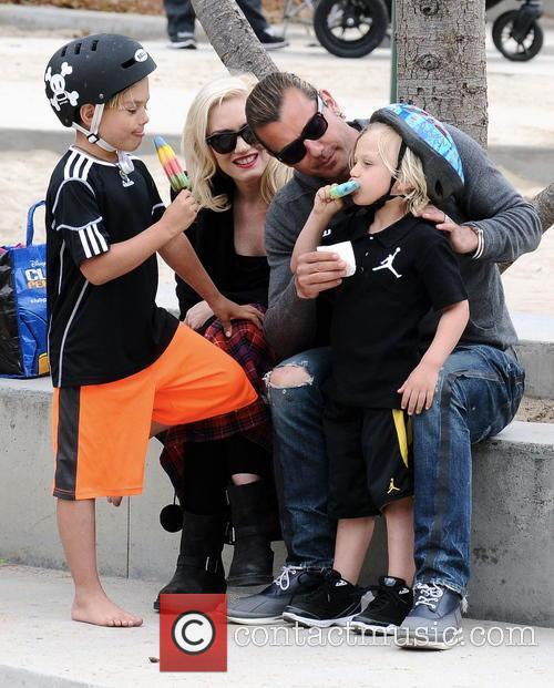 Gwen Stefani, Gavin Rossdale, Kingston Rossdale and Zuma Rossdale 1