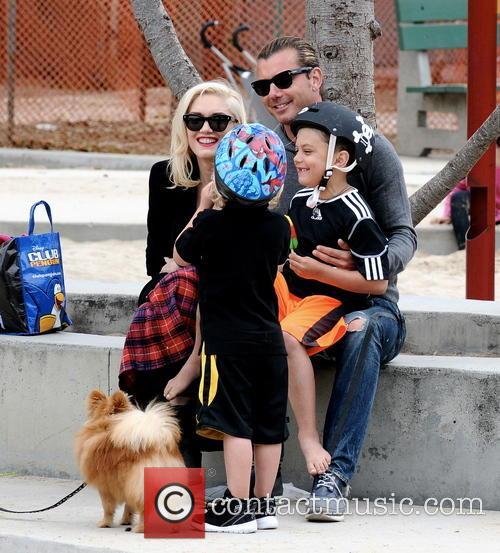 Gwen Stefani, Gavin Rossdale, Kingston Rossdale and Zuma Rossdale 3