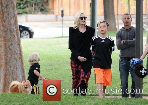 Gwen Stefani, Gavin Rossdale, Kingston Rossdale and Zuma Rossdale 5