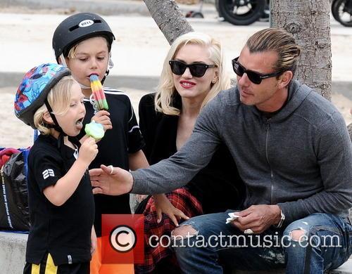 Gwen Stefani, Gavin Rossdale, Kingston Rossdale and Zuma Rossdale 6