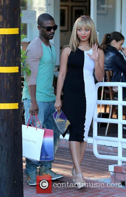 Ray J, Mia Milano and Fred Segal 12