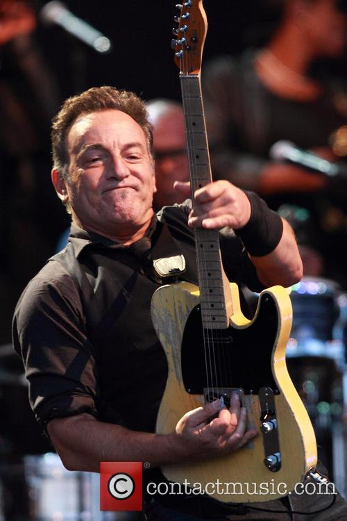 Bruce Springsteen performs live