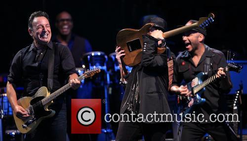 Bruce Springsteen, Nils Lofgren and Tom Morello