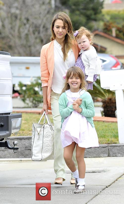 Jessica Alba, Haven Warren and Honor Warren 4