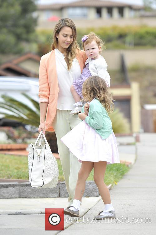 Jessica Alba, Haven Warren and Honor Warren 5