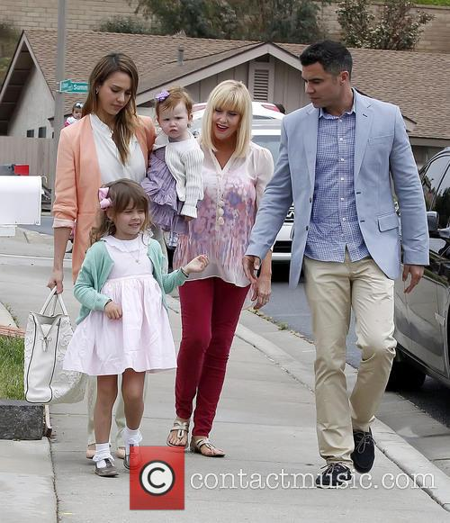 Jessica Alba, Haven Warren, Honor Warren and Cash Warren 11