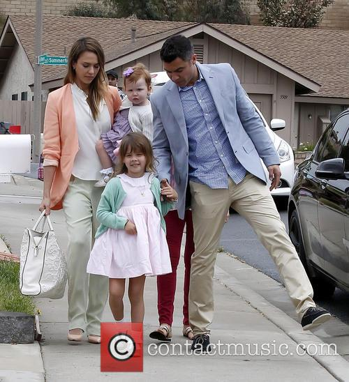 Jessica Alba, Haven Warren, Honor Warren and Cash Warren 1
