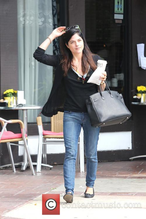 Selma Blair is seen on a coffee run...
