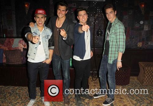 Carlos Pena, Jr, Logan Henderson, James Maslow and Kendall Schmidt of Big Time Rush 4