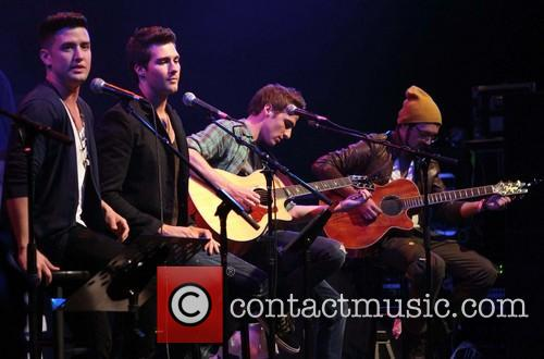 Carlos Pena, Logan Henderson, James Maslow, Kendall Schmidt and of Big Time Rush 2