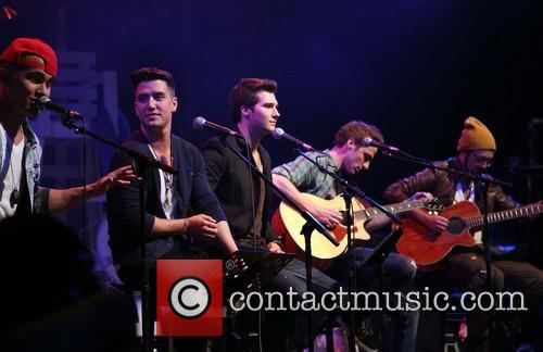 Carlos Pena, Logan Henderson, James Maslow, Kendall Schmidt and of Big Time Rush 3