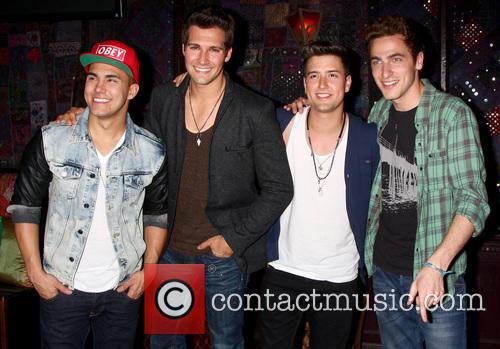 Carlos Roberto Pena Jr., James Maslow, Logan Henderson, Kendall Schmidt and Big Time Rush 3