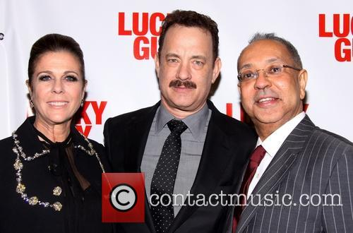 Rita Wilson, Tom Hanks, George C. Wolfe, Gotham Hall