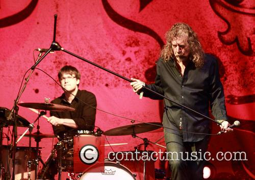Robert Plant performs live
