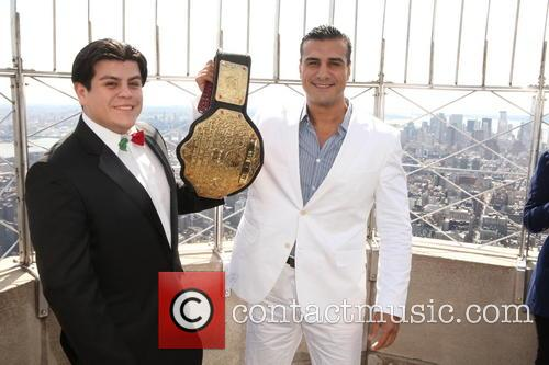 The Empire State Building hosts WWE Heavyweight Champion...
