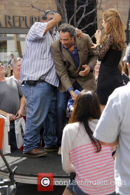 brad garrett maria manounos celebrities at the grove 3585278