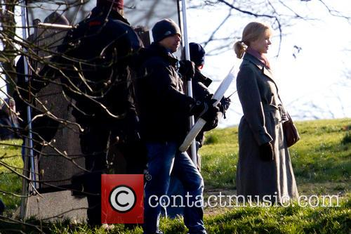 Nicole Kidman filming 'Before I Go To Sleep'