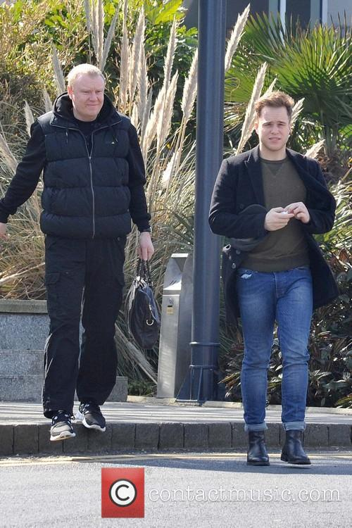 Olly Murs is seen leaving his Dublin hotel...