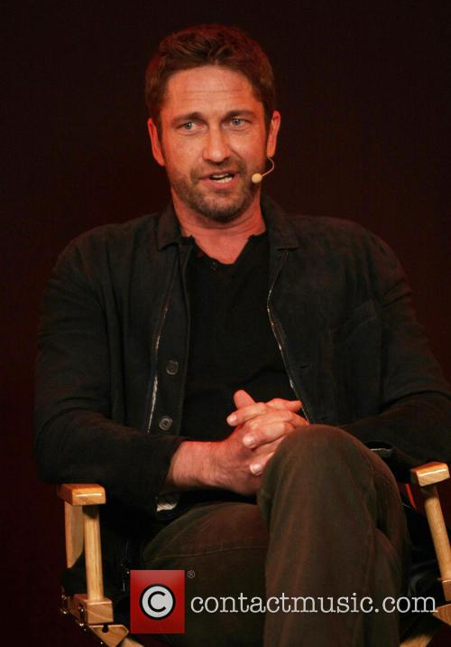 Gerard Butler and Aaron Eckhart promote their new...
