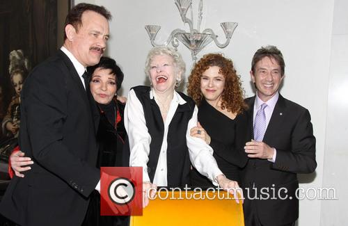 Tom Hanks, Liza Minnelli, Elaine Stritch, Bernadette Peters and Martin Short 3