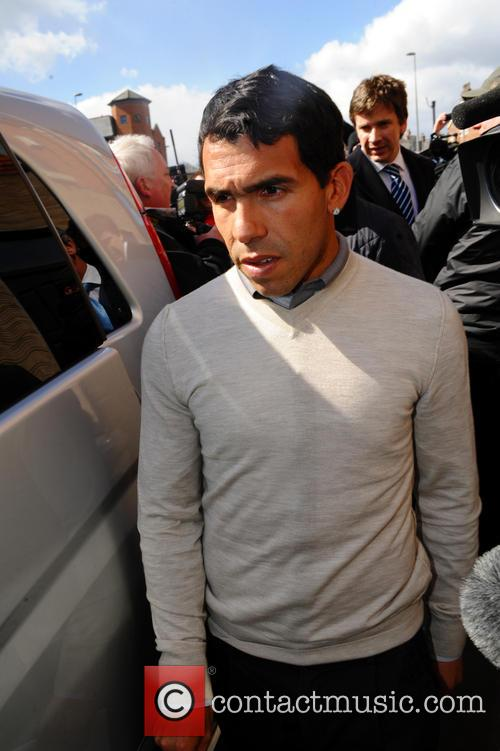 Carlos Tevez leaves Macclesfield magistrates court