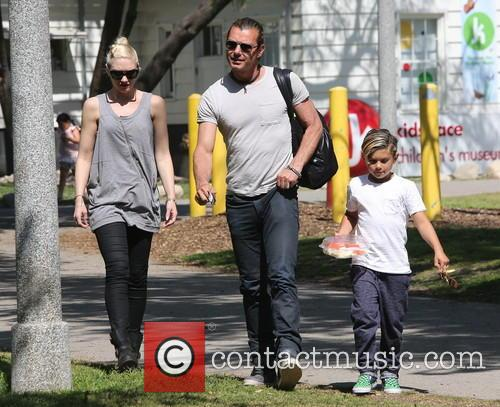 Gwen Stefani, Kingston Rossdale and Gavin Rossdale 4