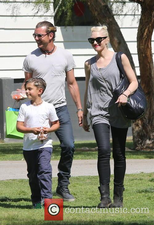 Gwen Stefani, Kingston Rossdale and Gavin Rossdale 9