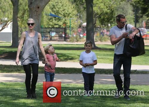 Gwen Stefani, Zuma Rossdale, Kingston Rossdale and Gavin Rossdale 1