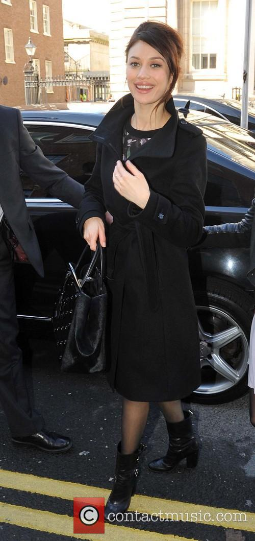 Olga Kurylenko arriving at the Merrion Hotel