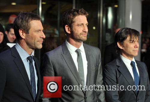 Aaron Eckhart, Gerard Butler and Alan Siegel 2