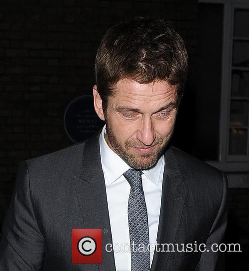 Gerard Butler leaving The Ivy restaurant