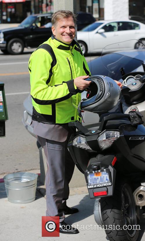Drew Carey on motorbike