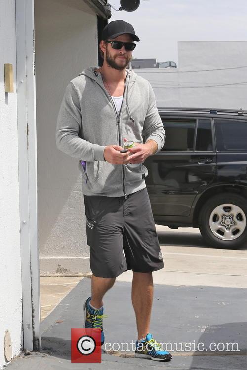 Liam Hemsworth Leaving Gym