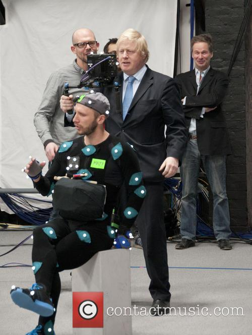 Boris Johnson films a short animation