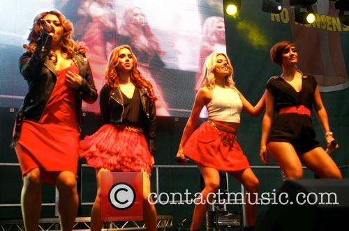 Frankie Sandford, Mollie King, Una Healy and Vanessa White 1