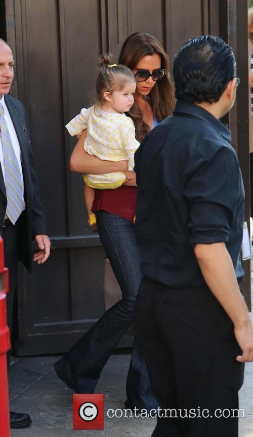Harper Beckham and Victoria Beckham 4