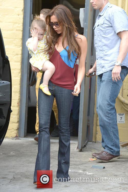 Victoria Beckham and Harper Beckham 5