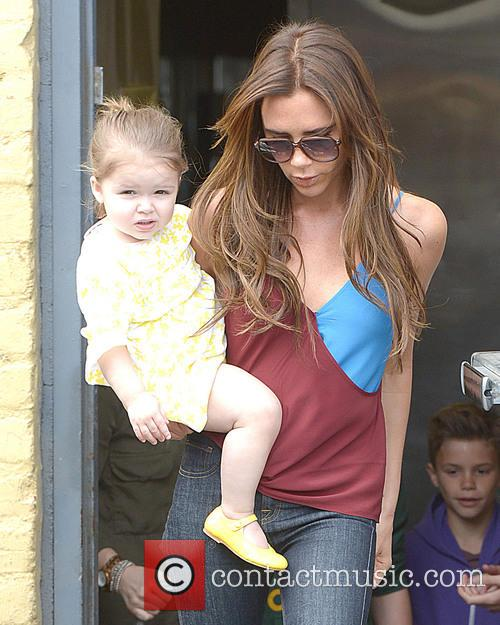 Victoria Beckham and Harper Beckham 7