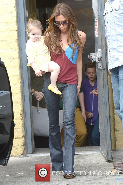 Victoria Beckham and Harper Beckham 8