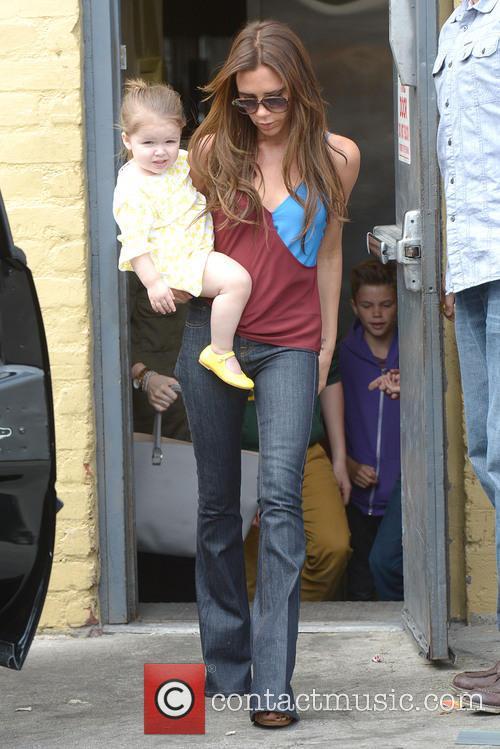 Victoria Beckham and Harper Beckham 12