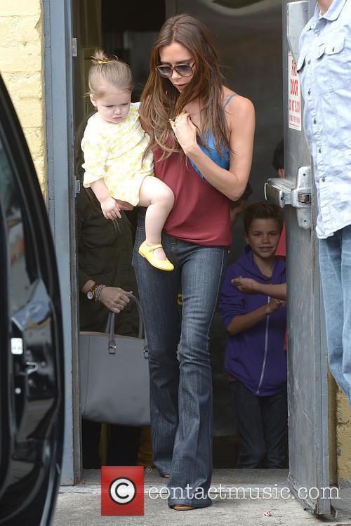 Victoria Beckham and Harper Beckham 15