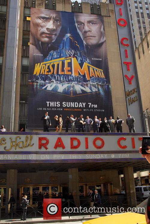 CM Punk, Dwayne 'The Rock' Johnson and John Cena 4